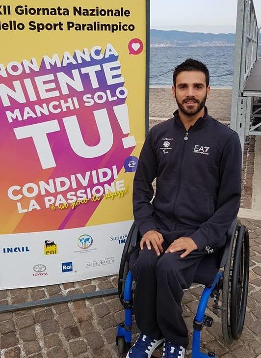 Vincenzo Boni - Ambasciatore paralimpico. Reggio Emilia 2018